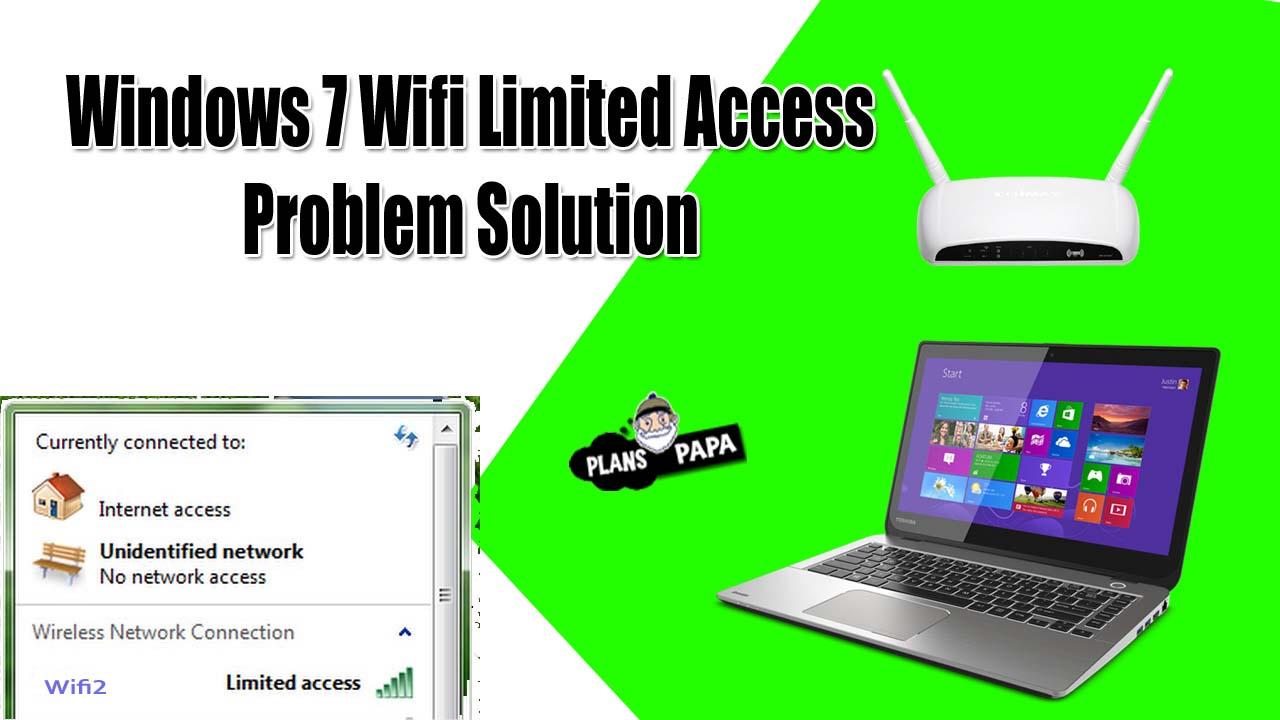 Windows 7 wifi limited access problem